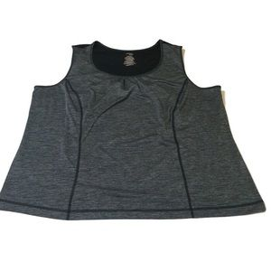 Danskin now grey & black workout tank 3X